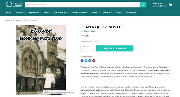 Compra online del libro de Pedro Úbeda El ayer que se nos fue