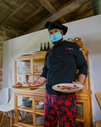 El chef de Cuñas Davia, Judicael Romero