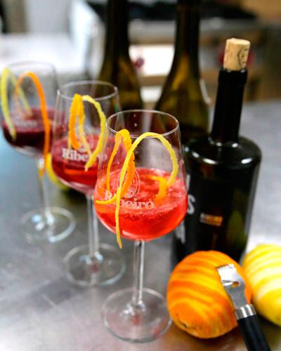 productos innovadores, combinados elaborados con vino Ribeiro: vin - tonics
