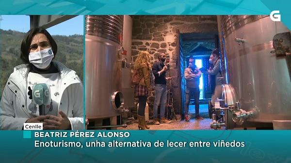 Noticia sobre enoturismo en Cuñas Davia no telexornal da TVG
